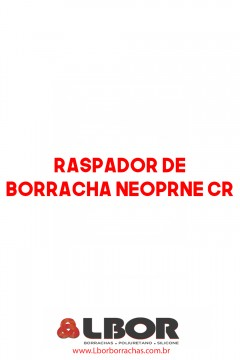 Raspador De Borracha Neoprene Cr